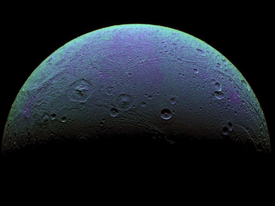Dione Saturn's Moon